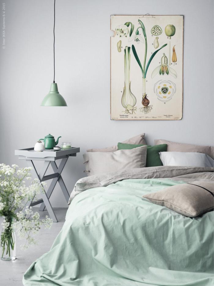 Green and Grey Bedroom Design Ideas