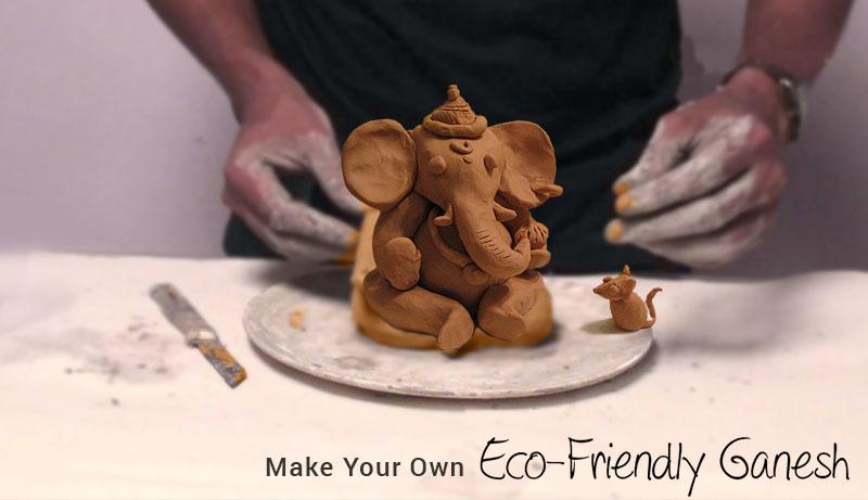 how to make eco friendly ganesh murti