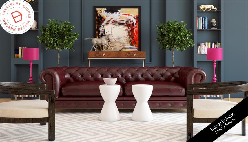 Trendy Eclectic Living Room
