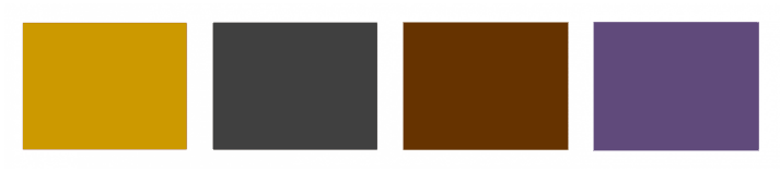 Trendy glam colour palette