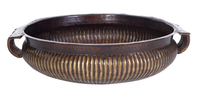 Antique Brass And Copper Bowl.jpg