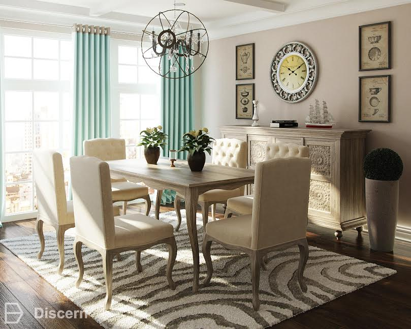Classic Rustic Dining Room - Discern Living