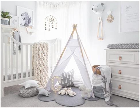 Kids Room Decor Ideas - Grey