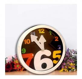 white-letter-round-wall-clock