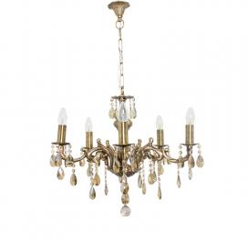 candle-lamp-5-lights-honey-crystal-brass-chandelier