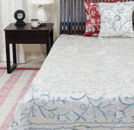 beige-cotton-embroidery-satin-bed-cover-double