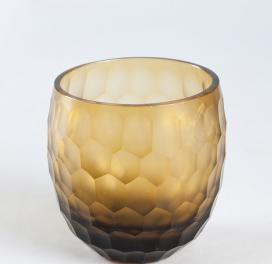 brown-drinking-honeycomb-round-glass