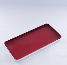 maroon-metal-rectangle-enamel-tray