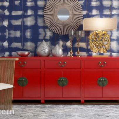 Shibori and Indigo Wallpapers at Home