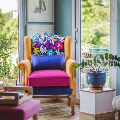 Fresh Citrus Interiors with an Indian Touch