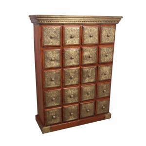 Chest Of Drawers With Brass Work