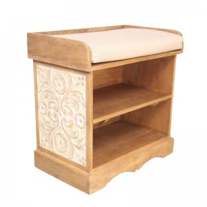 Storage Side Table With Cushioned Seat