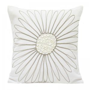 Floral Pearl - White Cushion Cover