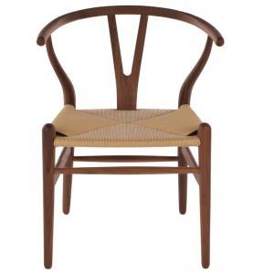 Hans Wegner Wishbone Chair Replica American Ash painted to walnut