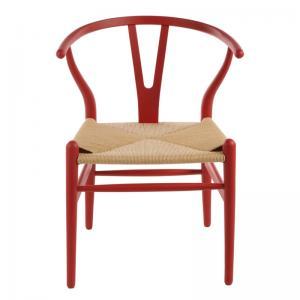 Hans Wegner Wishbone Chair Replica Red Matt