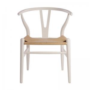 Hans Wegner Wishbone Chair Replica White Matt