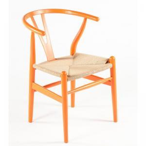 Hans Wegner Wishbone Chair Replica Orange Matt