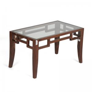 Medium Walnut Centre Table with Glass top