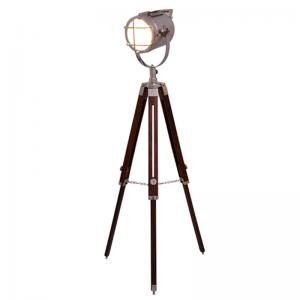 Grey Tripod Floor Lamp