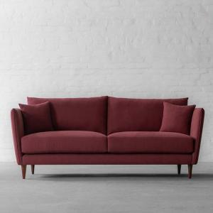 Norway Sofa Collection 3 Seater-Gir Merlot Cotton Linen Blend