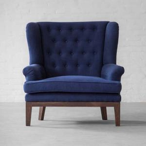 Paris Loveseat Collection 1 Seater-Linen Cotton Indigo
