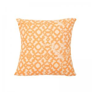 The Rough Ogee Cotton 2 Cushion Covers - Orange M