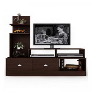 Milwaukee Tv Unit (Walnut) Engineered Wood Tv Entertainment Unit