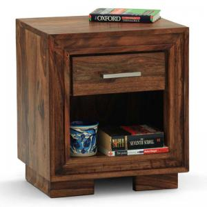Deruta Bedside Table Walnut
