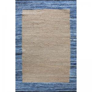 Hand Woven Denim Hemp & Recycled Fabric Harry Rug