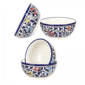 Multicolored Ceramic Bowls Set of Four
