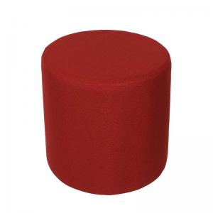 Pollux Pouf In Red Fabric With