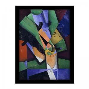 The smoker (Frank Haviland), 1913, by Juan Gris (W)
