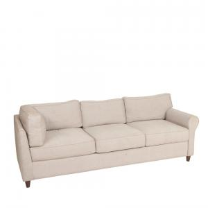 Acacia Wood Odyssey Upholstered 3 Seater Sofa
