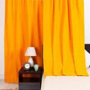 Yellow Cotton Woven Aadit Curtain Long Door