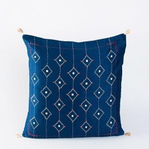 Cotton Viscose Eyaz Embroidered Cushion Cover
