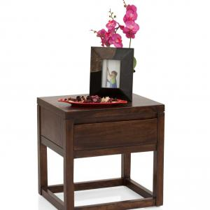 Cots world Bedside Table - Walnut