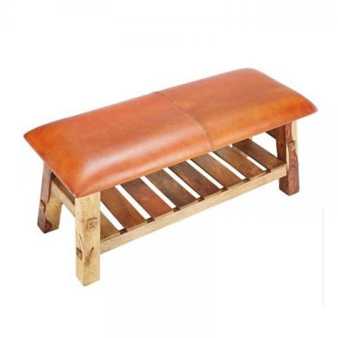 Buck Ii Leather Bench