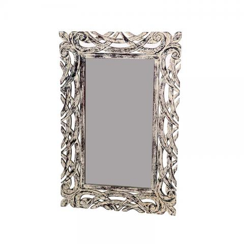 Distressed Finish Wooden Mirror