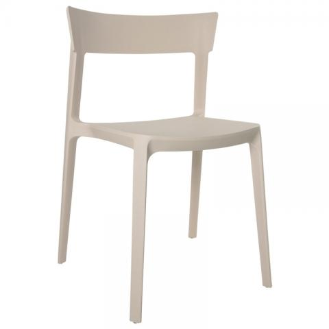 Husk Cafeteria Chair Beige Color
