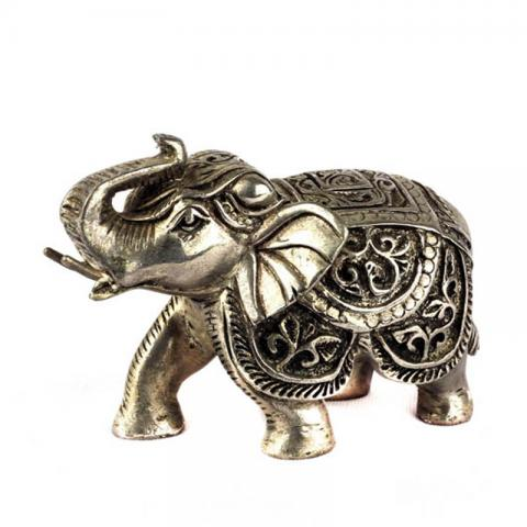 Silver Coated Wax Elephant(S)