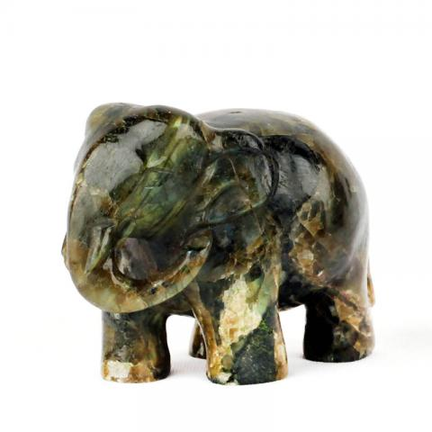 Moonstone Handcarved Elephants (M)