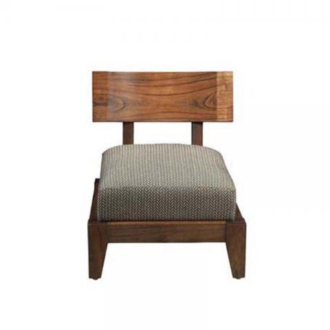 Daig Wood Accent Chair With Cushion