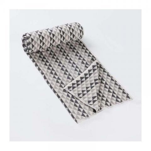 Grey Cotton Pile Noori Towel