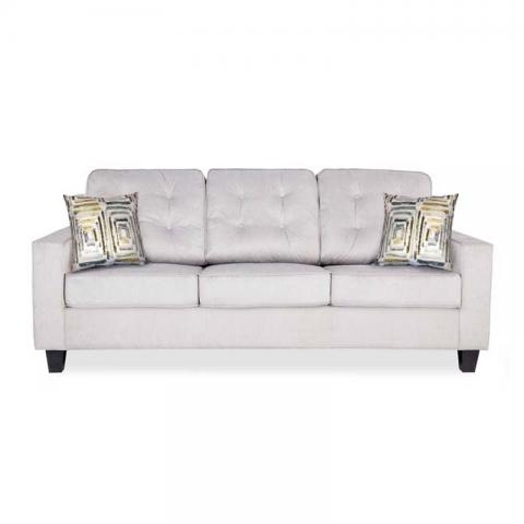 Moscow Grandeur Sofa Three Seater - Grey
