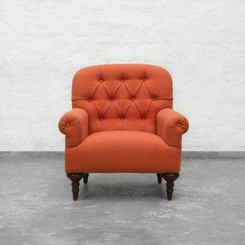 Brera Armchair Collection - Natural Tangerine