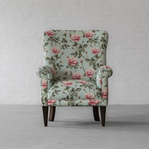 Dalhousie Armchair Collection Printed Natural Tangerine