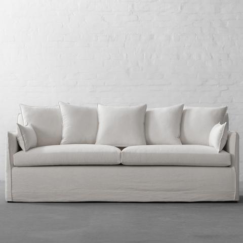 Astounding Long Island Slipcover Sofa Collection 4 Seater Linen Cotton Natural Interior Design Ideas Clesiryabchikinfo