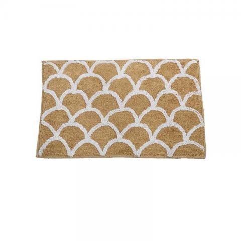 The Scalap Loops Cotton 1 Bath Rug - Beige - 16 X 24