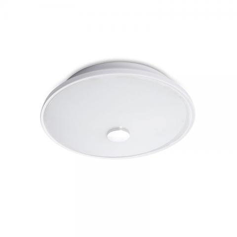 White Glass Flush Mounted Light