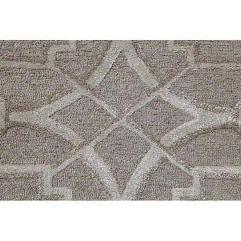 Contour Wool and Viscose Rugs 5X8 - Linen And Ivory